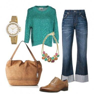 Outfit Shopping bag e maglioncino bon ton