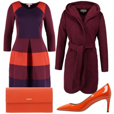 Outfit Cerimonia a colori caldi