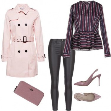 Outfit Trench rosa