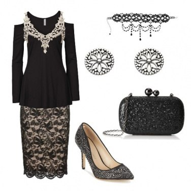 Outfit Pizzo e strass