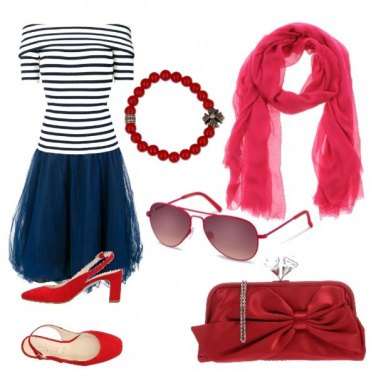 Outfit Blue & red