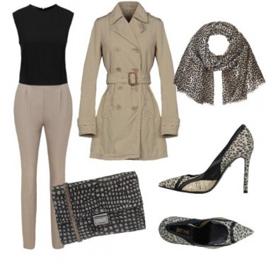 Outfit Animalier urbano in jumpsuit