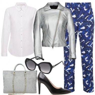 Outfit Il chiodo silver