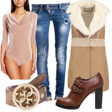 Outfit Jeans per la donna a rettangolo