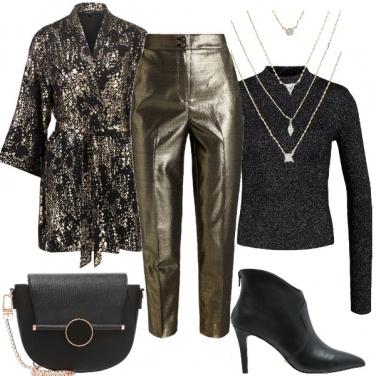 Outfit Festeggiare in oro