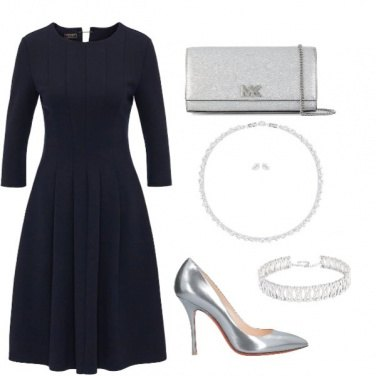 Outfit Blue & Silver