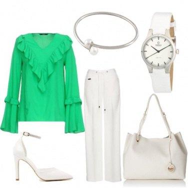 Outfit Panna e menta