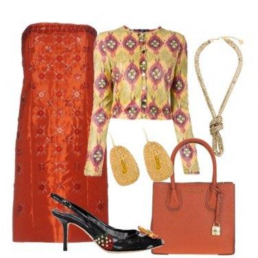 Outfit Chic con l\'arancio