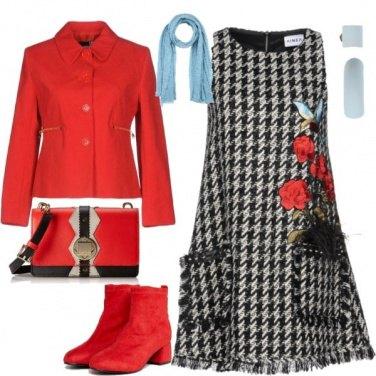 Outfit Pied de poule romantico
