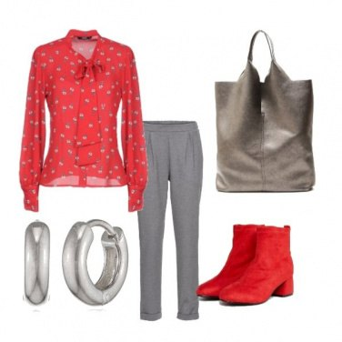 Outfit Rosso d\'autunno