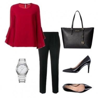 Outfit Pantalone nero e decollette