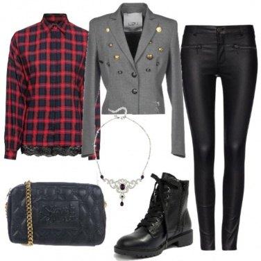 Outfit Tartan e leggings