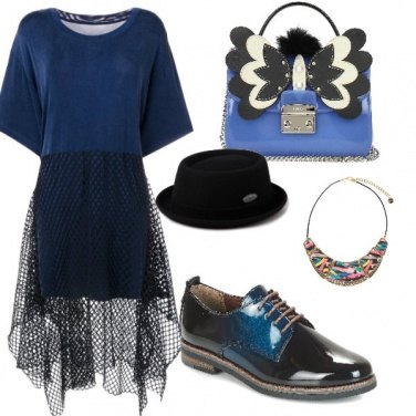 Outfit Blu nero