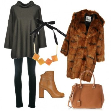 Outfit La pelliccia sintetica x la città