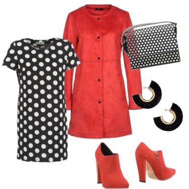 Outfit Trench e pois