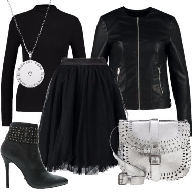 Outfit Tulle in versione rock