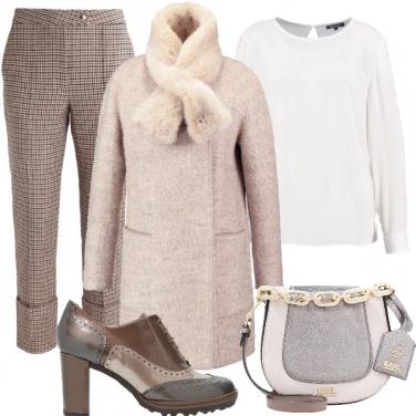 Outfit Inverno in francesine e pied de poule
