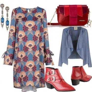 Outfit Azzurro e rock