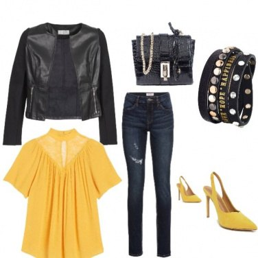 Outfit Giallo in autunno