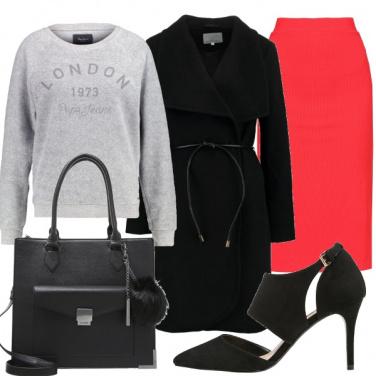 Outfit Longuette e felpa
