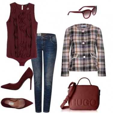 Outfit In bordeaux