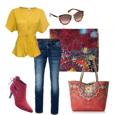 Outfit Camicetta gialla