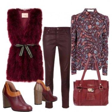 Outfit I toni del bordeaux