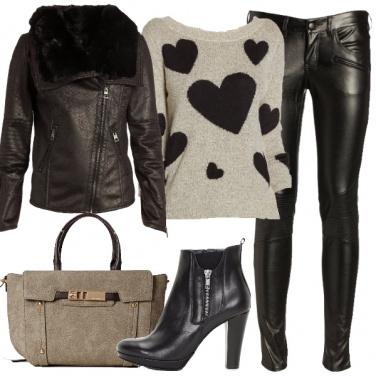 Outfit Un cuore di pelle