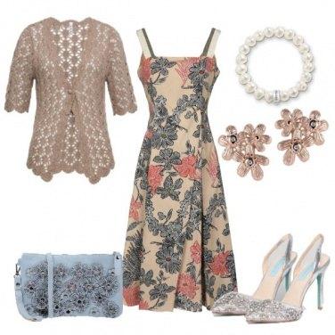 Outfit Abito bretelle fiorato