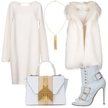 Outfit Bianco ed oro