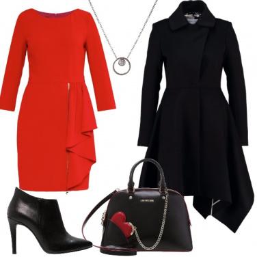 Outfit Rosso perfetto per le feste