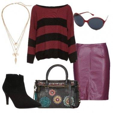 Outfit Tacco e maglione over