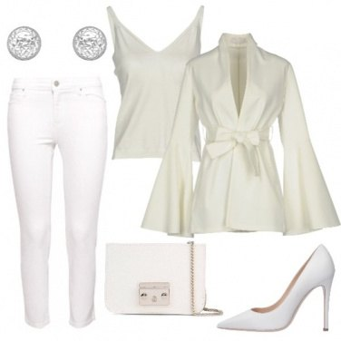Outfit Chic total white