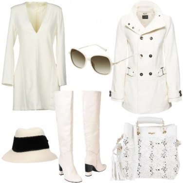 Outfit Mood in bianco anni 70
