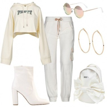 Outfit Felpa corta supertrendy