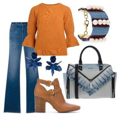 Outfit La borsa col riccio