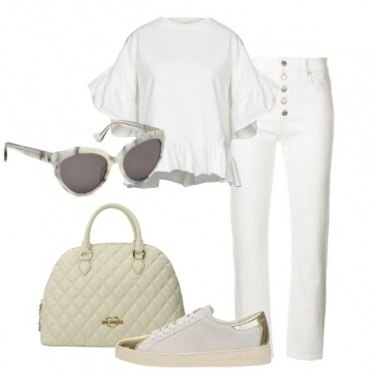 Outfit Bianco e chic