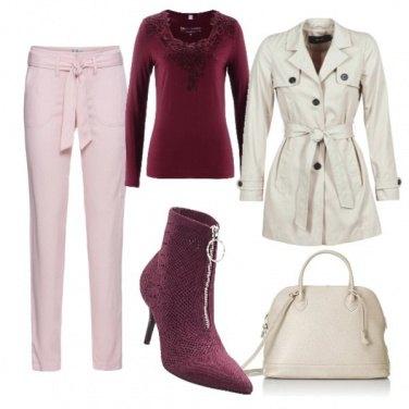 Outfit Lo stivaletto bordeaux