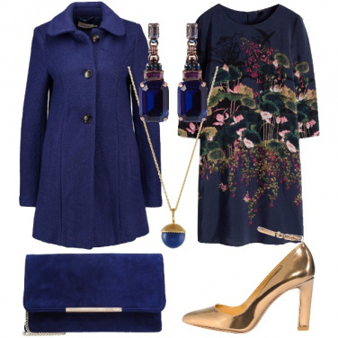 Outfit Oro blu