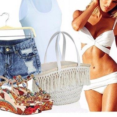 Outfit White beach