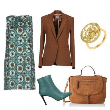 Outfit Stivaletto verde acqua