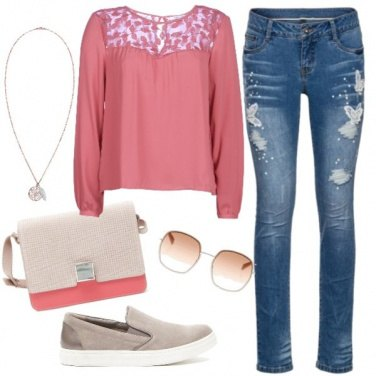Outfit Jeans e slip on