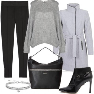 Outfit Grigio per l\'ufficio