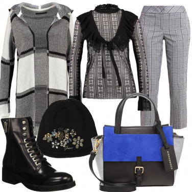 Outfit A quadri in stile londinese