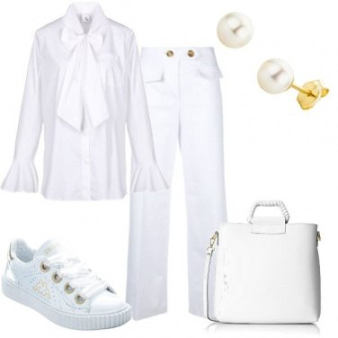 Outfit Sporty chic bianco