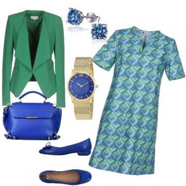 Outfit Optical verdazzurro