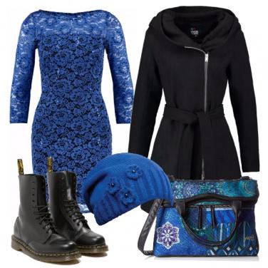 Outfit Elettrica in blu