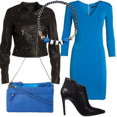 Outfit Blu e nero sexy