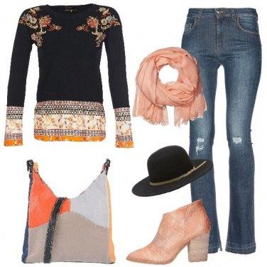 Outfit Sfumature di arancione