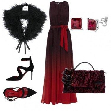 Outfit Rosso di sera....